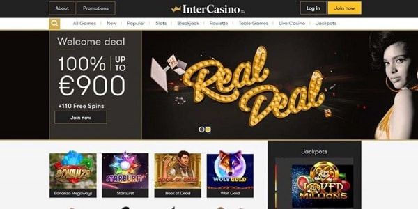 Inter Casino Welcome Bonus and Free Spins