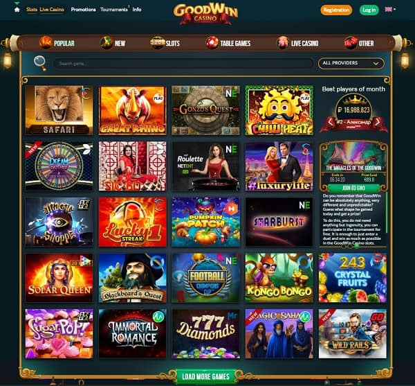 Goodwin Casino 20 Free Spins After Mobile Verification