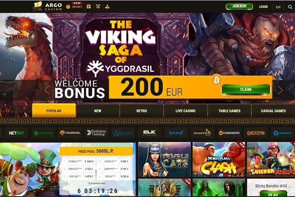 Argo Casino Online Free Spins Bonus