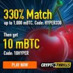 Crypto Thrills Casino 10 mBTC free no deposit bonus (USA OK)