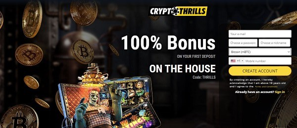 100% welcome bonus code