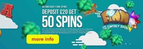 Slots Rush Casino 50 free spins