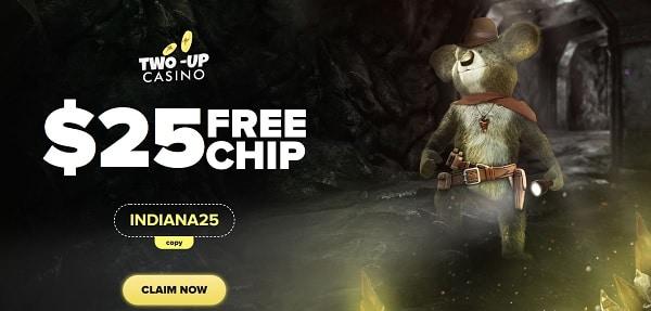 $25 free chip no deposit required (bonus code: INDIANA25)