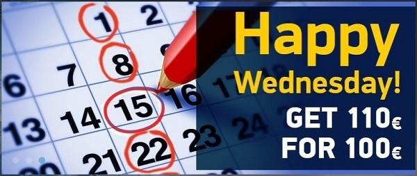 Happy Hour promo on Wednesdays!