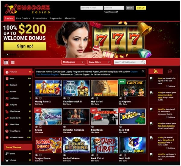 100% welcome bonus and 30 free spins for new players