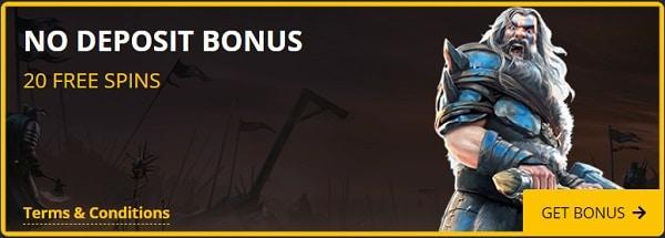 20 free spins exclusive no deposit bonus