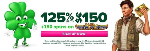 125% exclusive welcome bonus