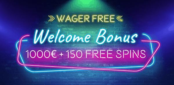 150 free spins no wager bonus