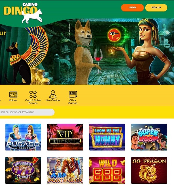 Dingo Casino free spins, bonus codes, promotions, review