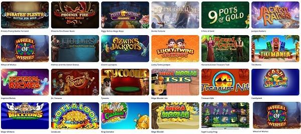 Slots, Live Games, Jackpots, Poker