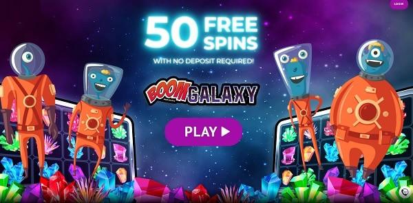 50 Free Spins on Boom Galaxy