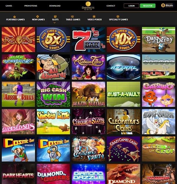 Da Vinci's Gold Casino Online Review