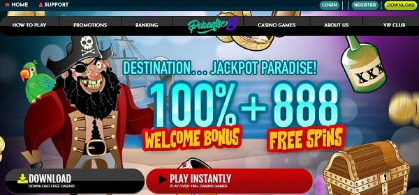 100% and 888 free spins