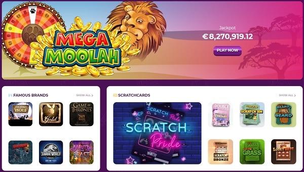 MEGA MOOLAH free game