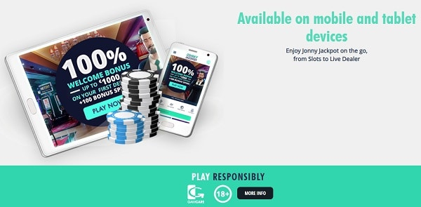 Available on mobiles and tablets and free spins on casino games