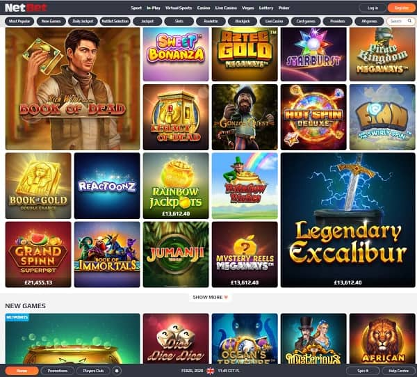 Unique Games at NetBet UK Casino