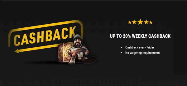 Unlimited 20% Cashback Bonus