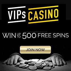 Vips Casino banner