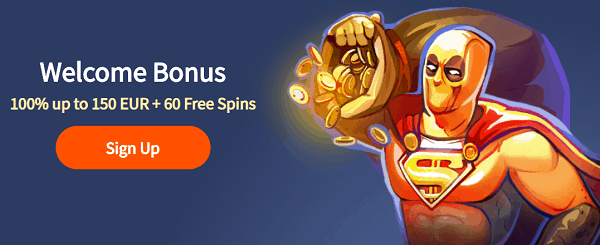 Sign up for a welcome bonus and free spins