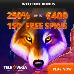 250% welcome bonus and 150 Free Spins