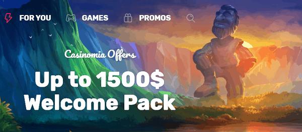 1500 EUR and 300 FS welcome bonus