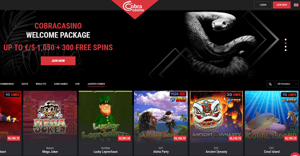 Cobra 10 free spins no deposit bonus