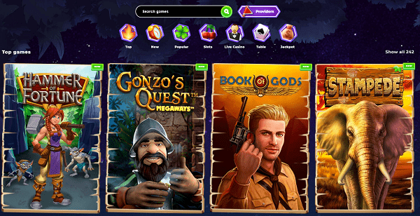 Enjoy the best online slots and progressive jackpots!