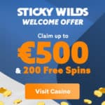 StickyWilds Casino Review 200 Free Spins and €500 Bonus