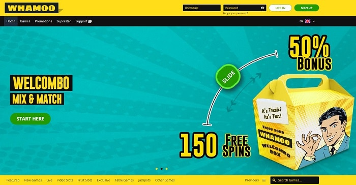 Welcombo 300 free spins or 100% Welcome Bonus