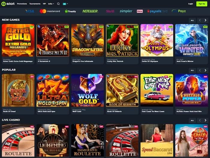 GSlot Casino free spins bonus code