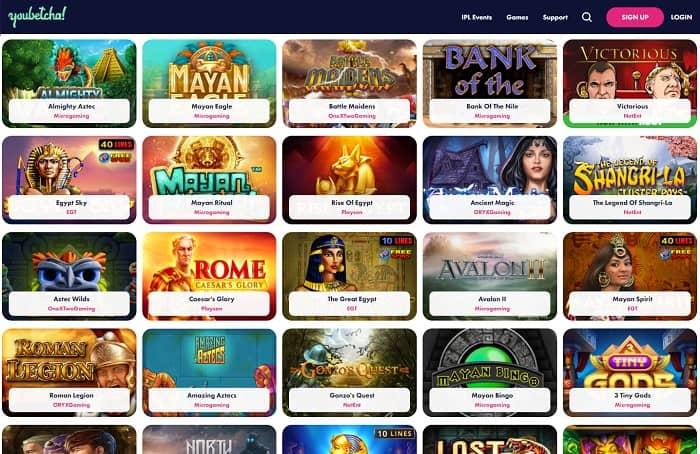 Popular casino slot games