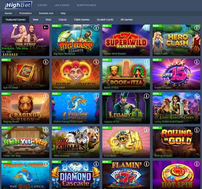 HighBet Casino Free Spins Bonus