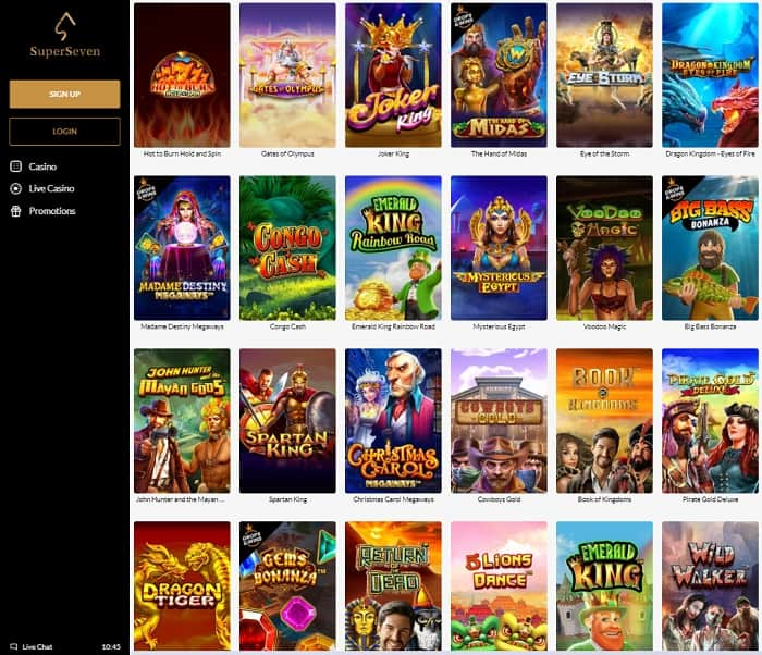 SuperSeven Casino Review & Rating